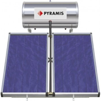 Pyramis Ηλιακός Θερμοσίφωνας Διπλής Ενέργειας 200Lt/3m2 με 2 Επιλεκτικούς Συλλέκτες