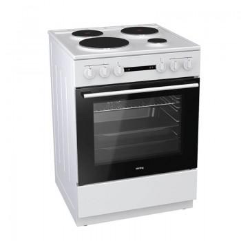 Korting KE6141WM 729332 Λευκή Κουζίνα Ηλεκτρική Εμαγιέ 71Lt 60x60x85cm με 9 προγράμματα λειτουργίας