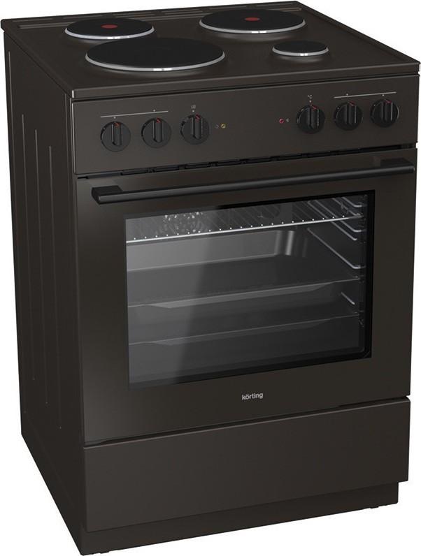 Korting KE6141BRM 729336 Καφέ Κουζίνα Ηλεκτρική Εμαγιέ 71Lt 60x60x85cm με 9 προγράμματα λειτουργίας