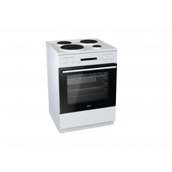 Korting KE6141WPM 729335 Λευκή Κουζίνα Ηλεκτρική Εμαγιέ 71Lt 60x60x85cm με 9 προγράμματα λειτουργίας