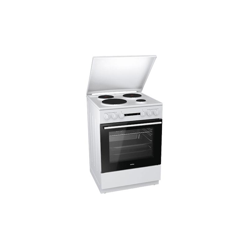 Korting KE6151WPM 729334 Λευκή Κουζίνα Ηλεκτρική Εμαγιέ 71Lt 60x60x85cm με 11 προγράμματα λειτουργίας