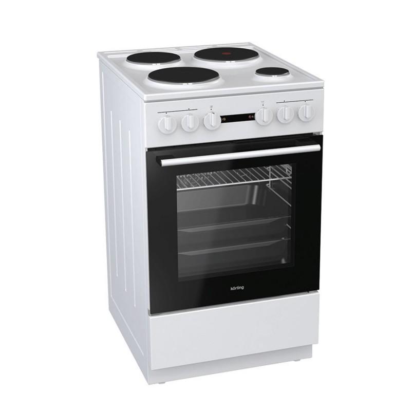 Korting KE5141WJ 729243 Λευκή Κουζίνα Ηλεκτρική Εμαγιέ 70Lt 50x60x85cm με 9 προγράμματα λειτουργίας