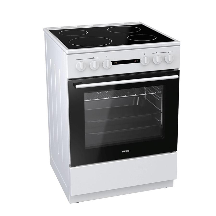 Korting  KEC6141WG 729339 Λευκή Κουζίνα Κεραμική Ελεύθερη 71Lt 60x60x85cm με 9 προγράμματα λειτουργίας