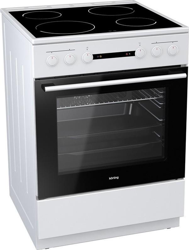 Korting KEC6141WPG 729333 Λευκή Κουζίνα Κεραμική Ελεύθερη 71Lt 60x60x85cm με 9 προγράμματα λειτουργίας