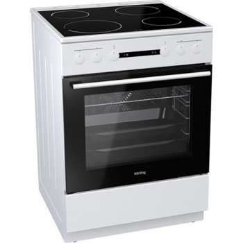 Korting KEC6151WPG 729251 Λευκή Κουζίνα Κεραμική Ελεύθερη 71Lt 60x60x85cm με 11 προγράμματα λειτουργίας