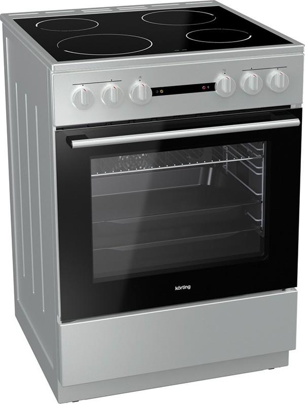 Korting KEC6142IS 729337 Inox Κουζίνα Κεραμική Ελεύθερη 71Lt 60x60x85cm με 9 προγράμματα λειτουργίας