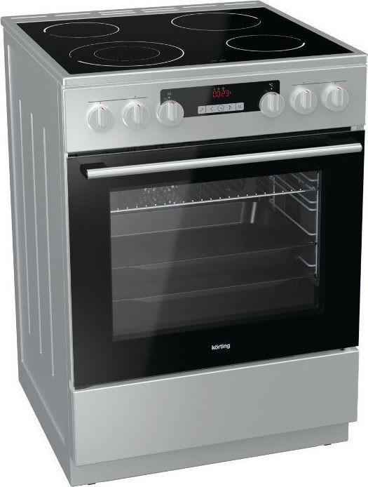 Korting KEC6352IPC 729338 Inox Κουζίνα Κεραμική Ελεύθερη 71Lt 60x60x85cm με 11 προγράμματα λειτουργίας