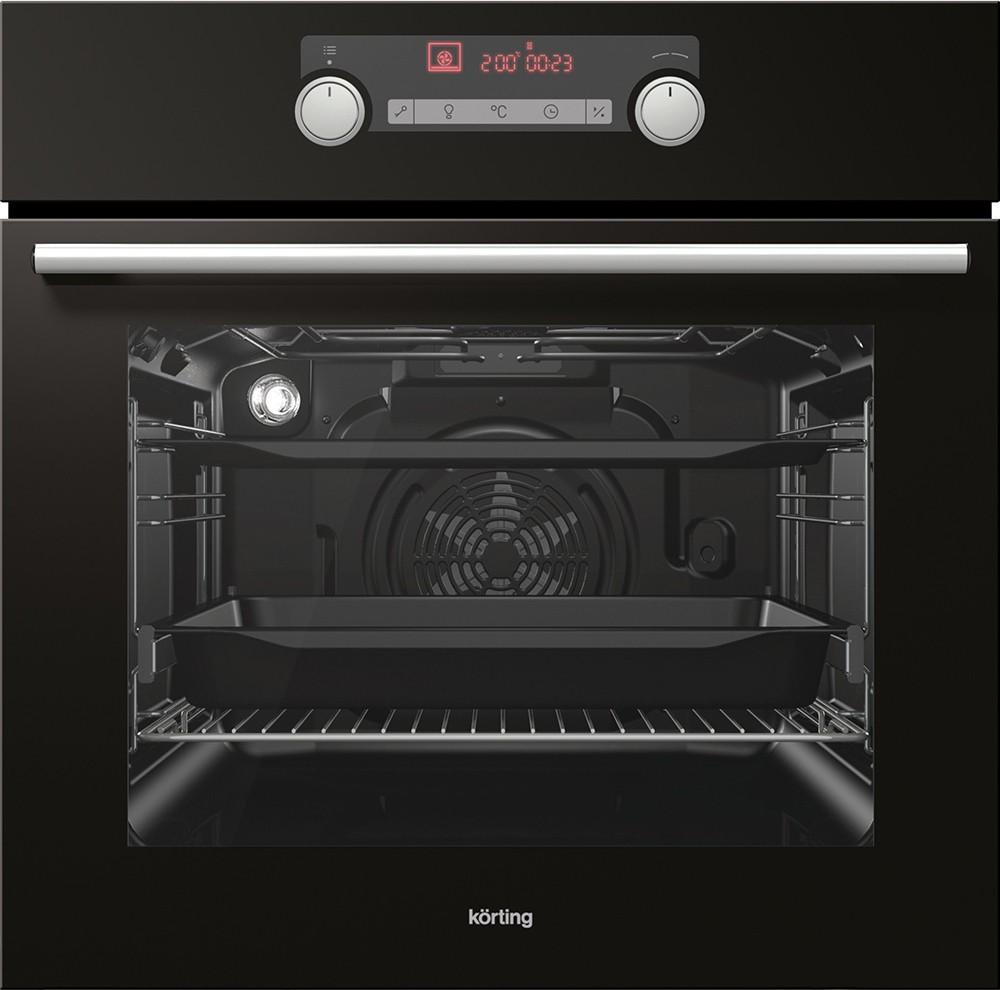 Korting KBO735E20BG 734818 Μαύρος Φούρνος Εντοιχιζόμενος Άνω Πάγκου 71Lt 59,7x59,5x54,7cm με 9 προγράμματα λειτουργίας