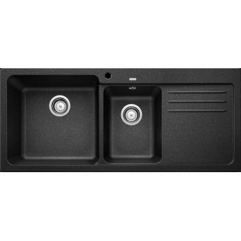 Blanco Naya 8 S Anthracite SILGRANIT™ PuraDur™ Γρανιτένιος Νεροχύτης Ένθετος με 2 Γούρνες και Ποδιά 116x50cm
