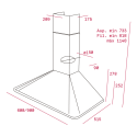Teka DOS 90.1 Beige Απορροφητήρας Καμινάδα Τοίχου Μπεζ 90 cm