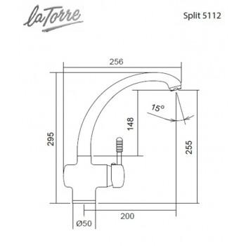 Carron Phoenix by La Torre Split 5112-100 Μπαταρία Κουζίνας Χρωμέ Με Υψηλό Περιστρεφόμενο Ρουξούνι