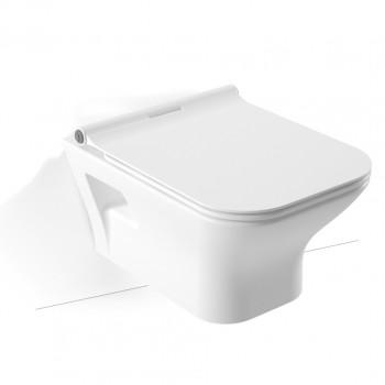 Serel Nita Round NT2300SC Hygiene Plus Πορσελάνινη Λεκάνη Κρεμαστή 52cm με κάλυμμα βακελίτη Slim Soft Close αποσπώμενο