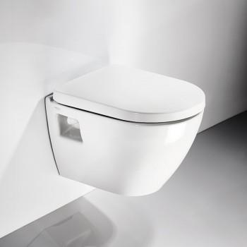 Serel Smart SM1200C Hygiene Plus Πορσελάνινη Λεκάνη Κρεμαστή 48,5cm με κάλυμμα βακελίτη Soft Close αποσπώμενο