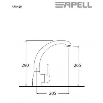 Apell AP8420 Μπαταρία Κουζίνας Χρωμέ Με Υψηλό Περιστρεφόμενο Ρουξούνι