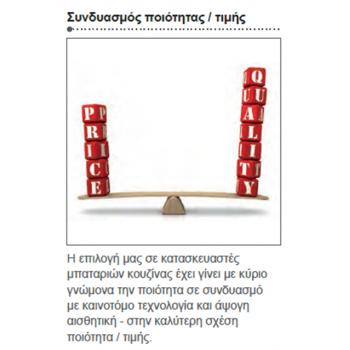 Eurorama Κlint 142528-100 Μπαταρία Κουζίνας Χρωμέ Με Υψηλό Περιστρεφόμενο Ρουξούνι