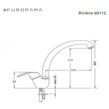 Eurorama Riviera 60112 Χρώμιο Μπαταρία Κουζίνας