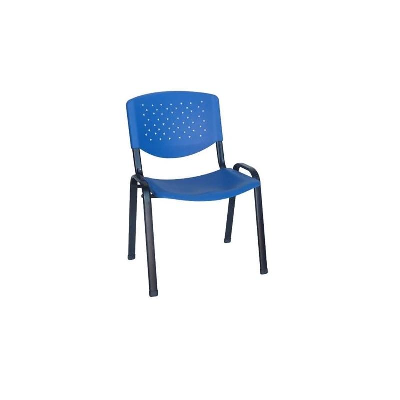 Καθίσματα Γραφείου Milos PVC Μπλε Καρέκλα Βαφής
