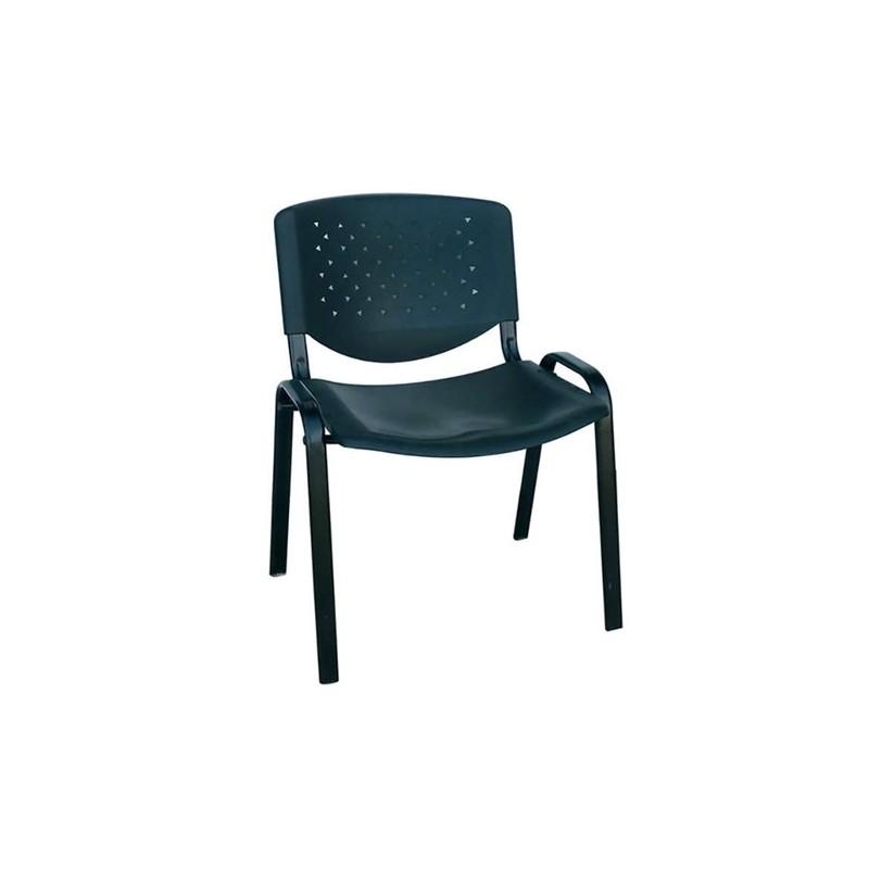 Καθίσματα Γραφείου Milos PVC Μαύρο Καρέκλα Βαφής