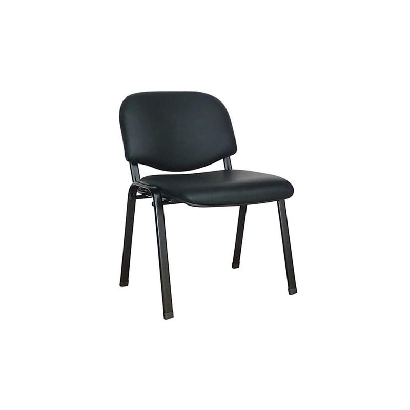 Καθίσματα Γραφείου Milos Δερματίνη Μαύρη Καρέκλα Βαφής