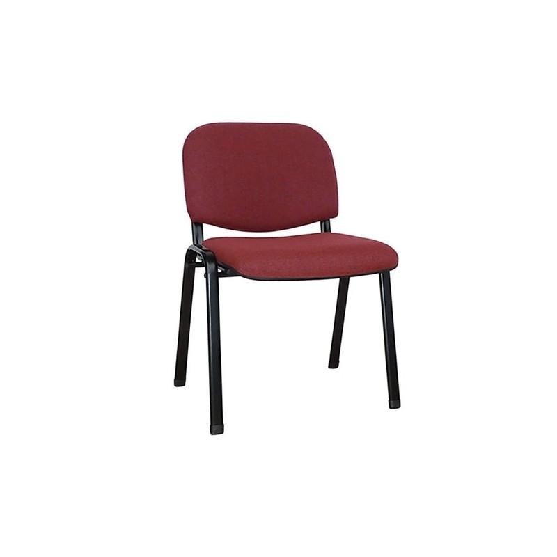 Καθίσματα Γραφείου Milos Μπορντώ Ύφασμα Καρέκλα Βαφής