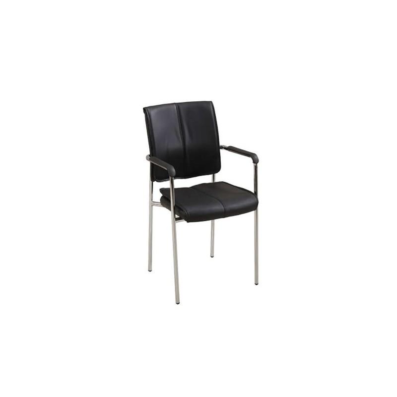 Καθίσματα Γραφείου Santy Μαύρη Πολυθρόνα Χρωμίου