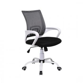 Καθίσματα Γραφείου BS1850-W Λευκό/Μαύρο Mesh Πολυθρόνα Γραφείου