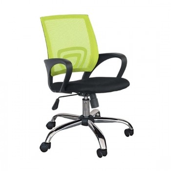 Καθίσματα Γραφείου BS1850 Χρώμιο/Πράσινο Mesh Πολυθρόνα Γραφείου