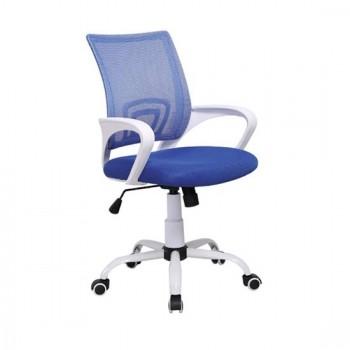 Καθίσματα Γραφείου BS1850-W Λευκό/Μπλε Mesh Πολυθρόνα Γραφείου