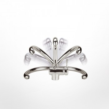 Eurorama Design 13700-100 Μπαταρία Κουζίνας Χρωμέ Mε Περιστρεφόμενο/Ανακλινόμενο Ρουξούνι