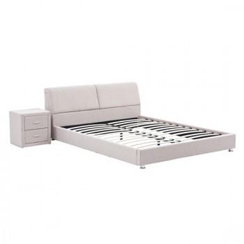 Κρεβάτι Sonia Beige Ύφασμα Κρεβάτι 160Χ200 cm