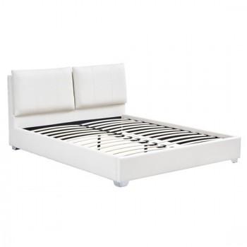 Κρεβάτι Dona Off White PU 160x200 cm