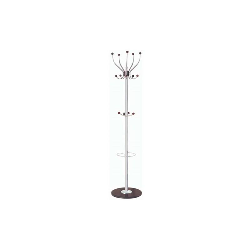 Καλόγερος Μεταλλικός Ασημί/PVC 38Χ38Χ180 εκ.