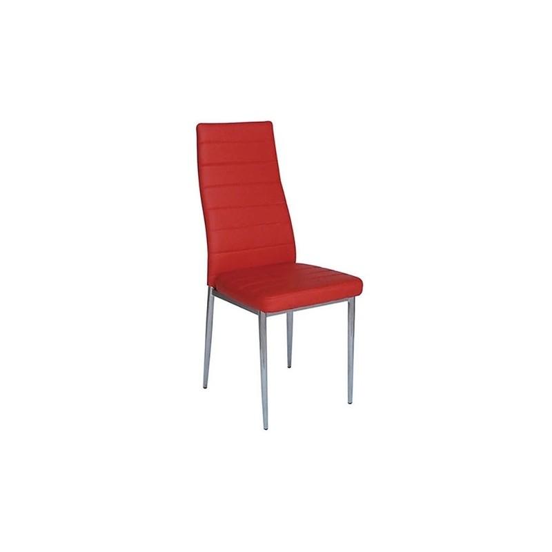 Καρέκλα τραπεζαρίας Aliana Κόκκινη Βαφής (Σ6) PU Μεταλλική 42X50X95 εκ.