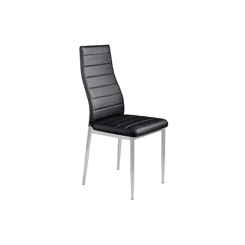 Καρέκλα τραπεζαρίας Aliana Μαύρη Βαφής (Σ6) PU Μεταλλική  42Χ50Χ95 εκ.