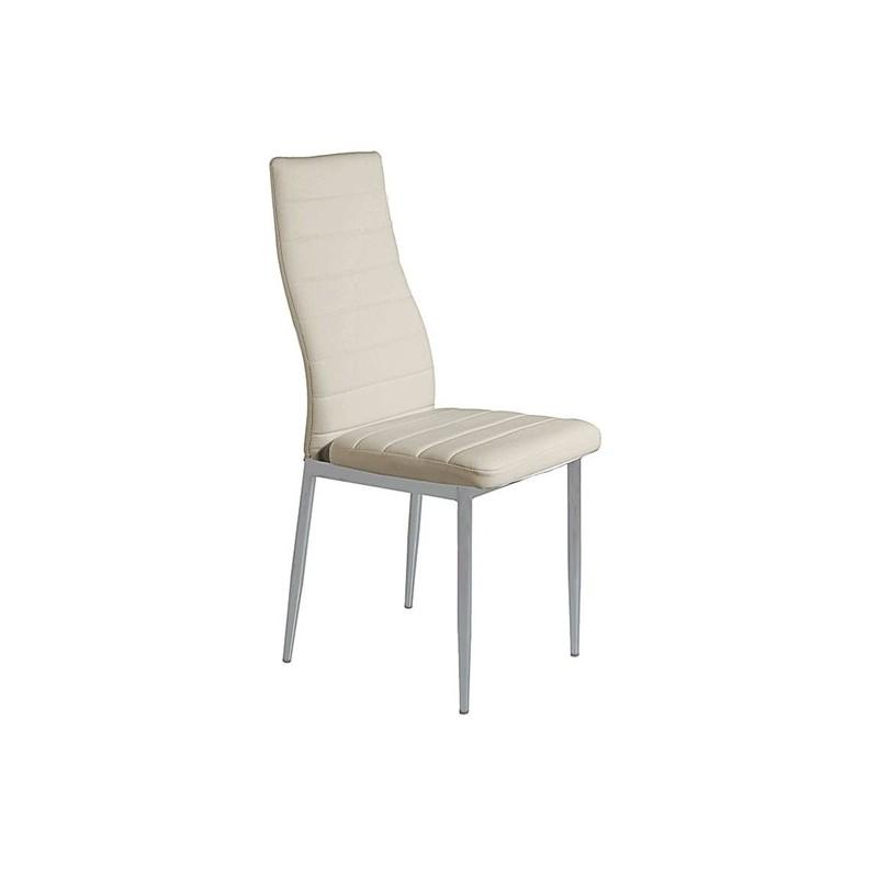 Καρέκλα τραπεζαρίας Aliana Κρεμ Βαφής (Σ6) PU Μεταλλική 42X50X95 εκ.