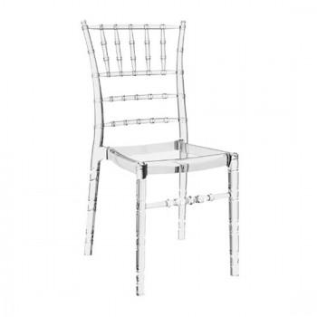 Καρέκλα Chiavari Clear Transparent (Σ4) Ακρυλική 45X51X91 εκ.