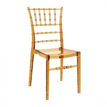 Καρέκλα Chiavari Amber Transparent (Σ4) Ακρυλική 45X51X91 εκ.