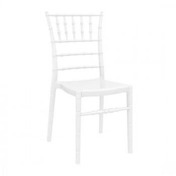 Καρέκλα Chiavari Glossy White (Σ4) Ακρυλική 45X51X91 εκ.