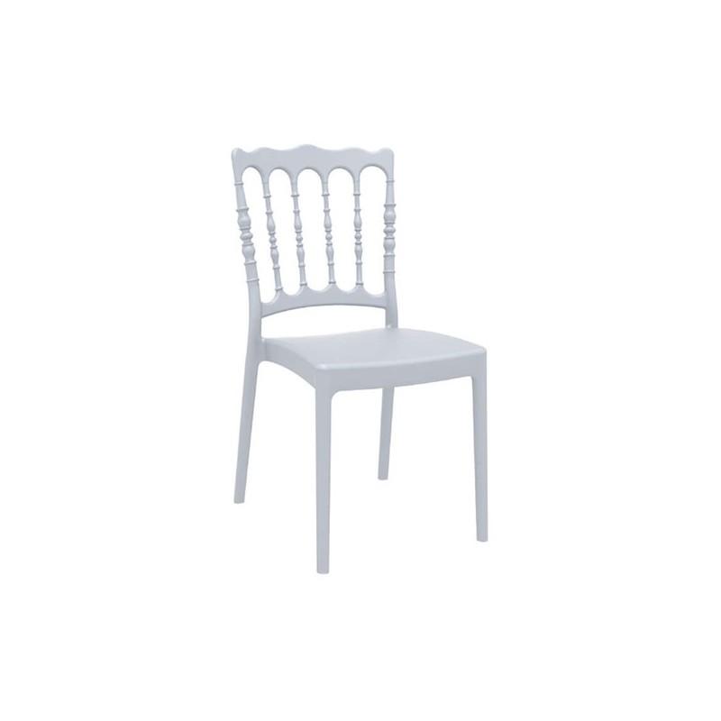 Καρέκλα Napoleon Silver Grey Πολυπροπυλένιο 45X55X92 εκ.