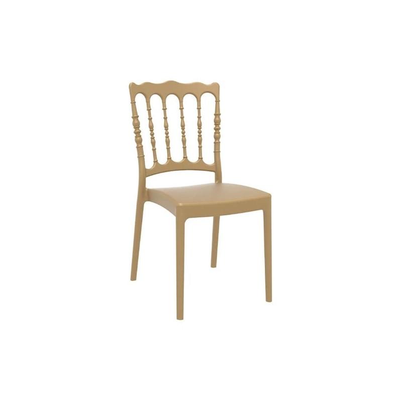 Καρέκλα Napoleon Gold Πολυπροπυλένιο 45X55X92 εκ.