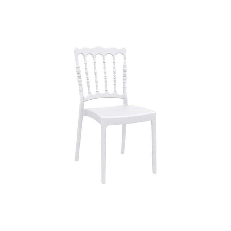 Καρέκλα Napoleon White Πολυπροπυλένιο 45X55X92 εκ.