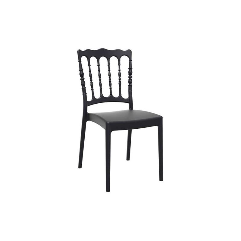 Καρέκλα Napoleon Black Πολυπροπυλένιο 45X55X92 εκ.