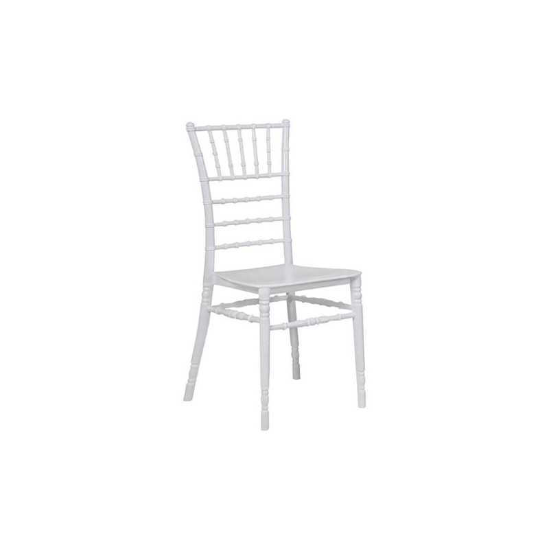 Καρέκλα Tiffany Λευκή Πολυπροπυλένιο 45Χ48Χ93 εκ.