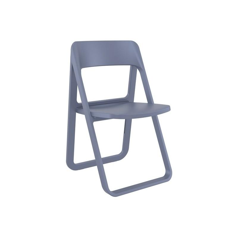 Καρέκλα Dream Dark Grey (Σ4) Πτυσσόμενη Πολυπροπυλένιο 48Χ52Χ82 εκ.