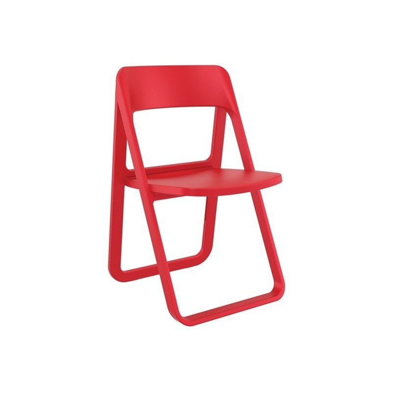Καρέκλα Dream Red (Σ4) Πτυσσόμενη Πολυπροπυλένιο 48Χ52Χ82 εκ.