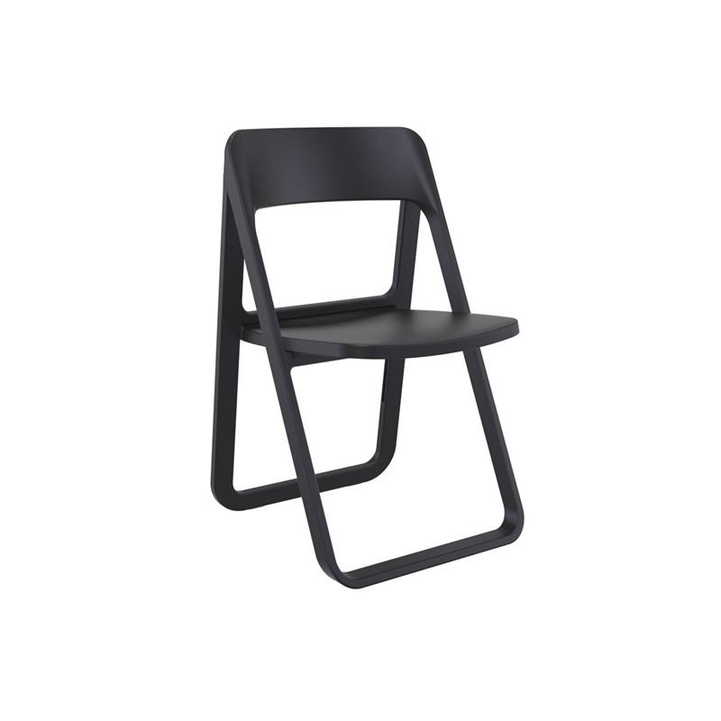 Καρέκλα Dream Black (Σ4) Πτυσσόμενη Πολυπροπυλένιο 48Χ52Χ82 εκ.