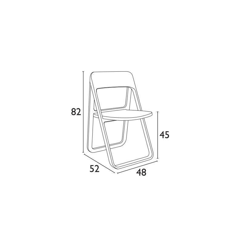 Καρέκλα Dream Dove Grey (Σ4) Πτυσσόμενη Πολυπροπυλένιο 48Χ52Χ82 εκ.