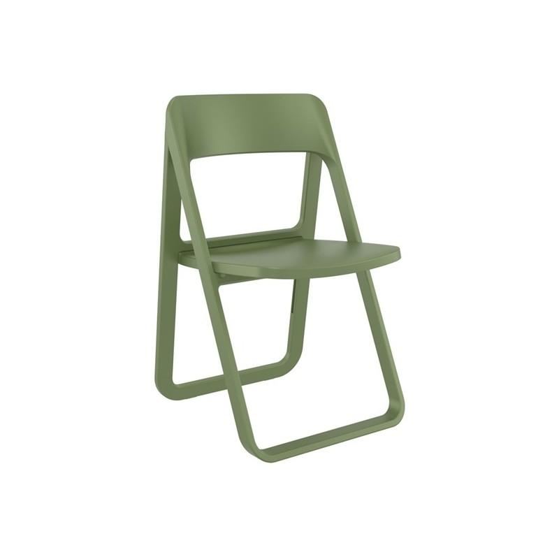 Καρέκλα Dream Olive Green (Σ4) Πτυσσόμενη Πολυπροπυλένιο 48Χ52Χ82 εκ.