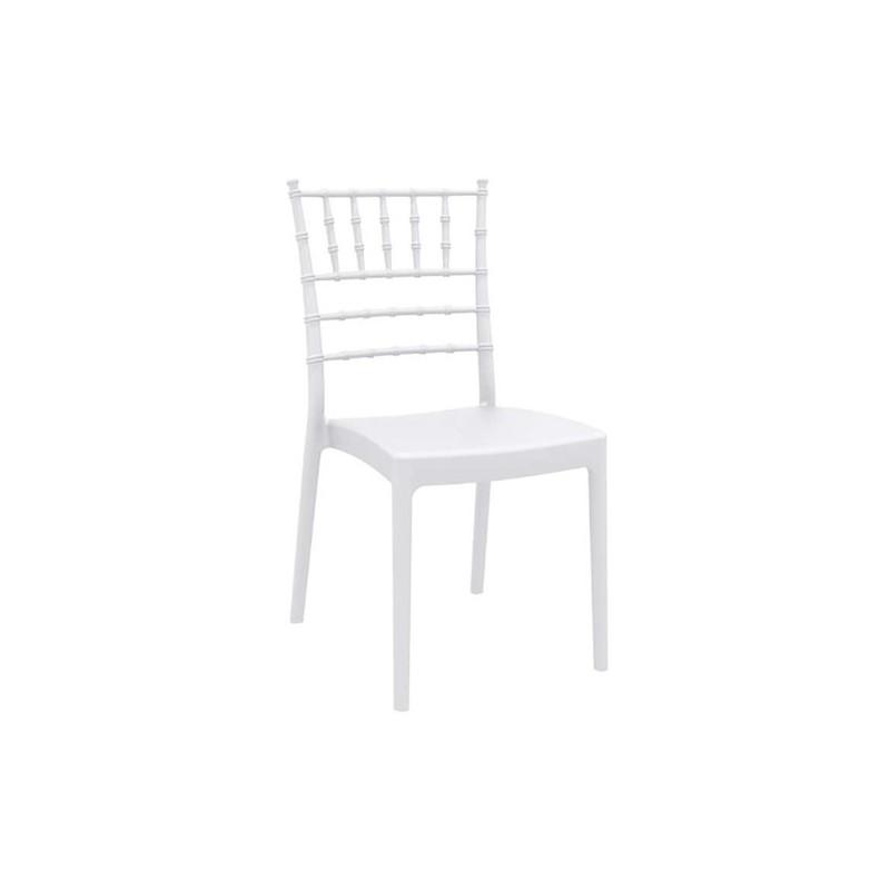 Καρέκλα  Josephine White Πολυπροπυλένιο 45X55X92 εκ.