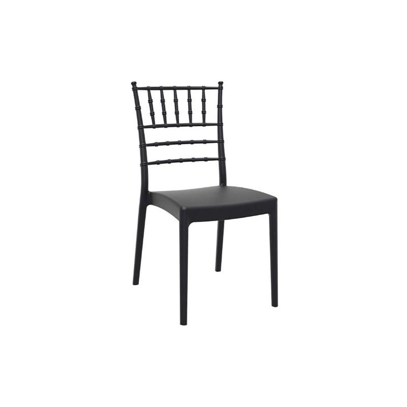 Καρέκλα Josephine Black Πολυπροπυλένιο 45X55X92 εκ.